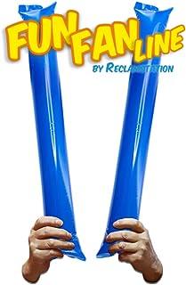 FUN FAN LINE - Lot de 20 bâtons gonflables en Plastique pour l'animation et Les événements Sportifs. Bruyant Cheerleading ...