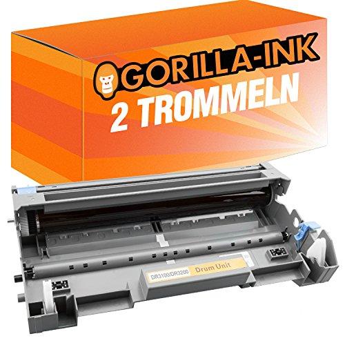 Gorilla-Ink 2X Trommel XXL kompatibel mit Brother DR-3200 Schwarz HL-5300 Series HL-5340 HL-5340 D HL-5340 DL HL-5340 DN HL-5340 DNLT HL-5340 DN 2 LT HL-5340 DW HL-5350 HL-5350 DN