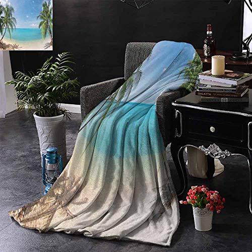 GGACEN Travel deken Ocean View van het raam op het eiland in Sunny Summer Day Vredige Ontspanning Rustende Camping deken - het gooien van een deken