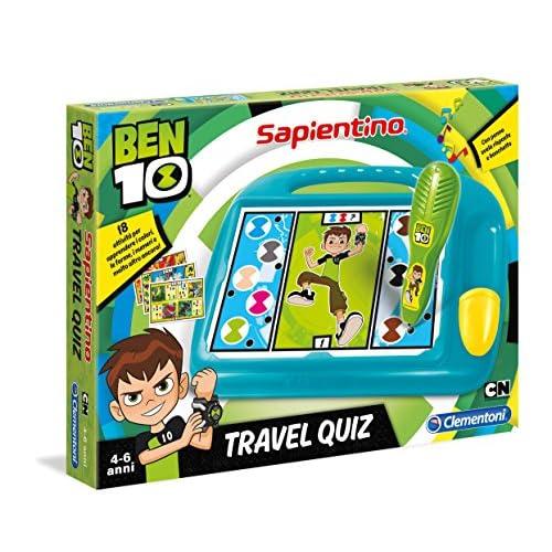Clementoni- Sapientino Travel Quiz Ben 10, Multicolore, 16086