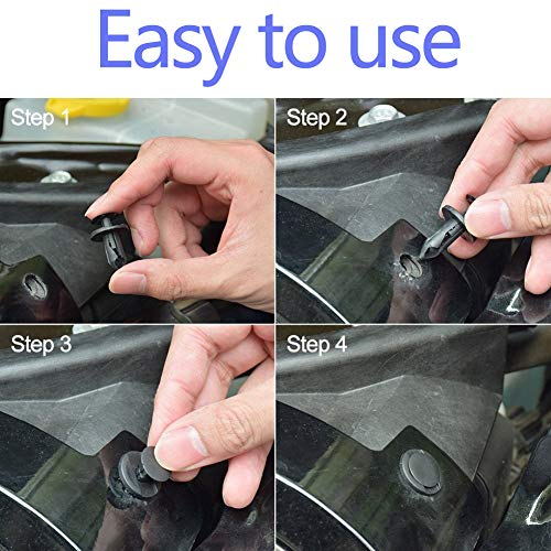 Manelord Auto Body Fastener Rivet Clip Kit - 447pcs Car Clips Set with Push Retainer Clips, Fastener Remover, Auto Trim Removal Tool for Car Panel Trim, Car Screws Replacement