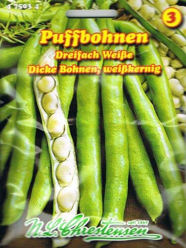 Puffbohne Dreifach Weisse (Portion)