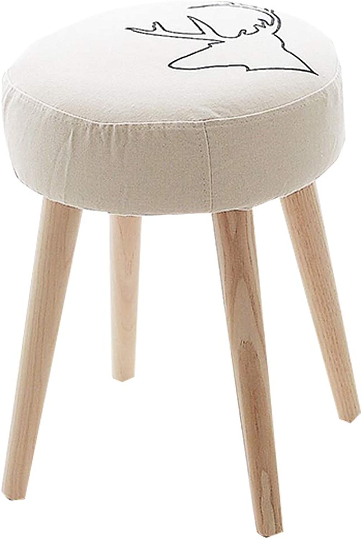 marca de lujo Zlling-escabel Nordic Simple Small Round Stools Changing His zapatos zapatos zapatos Sofa Chair Fabric Living Room Bedroom Dining Table (Tamaño   52cm×32cm×42cm)  Precio al por mayor y calidad confiable.