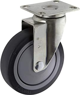 TOOLCRAFT TO-5137917 Zwenkwiel TPR 100 mm met schroefplaat