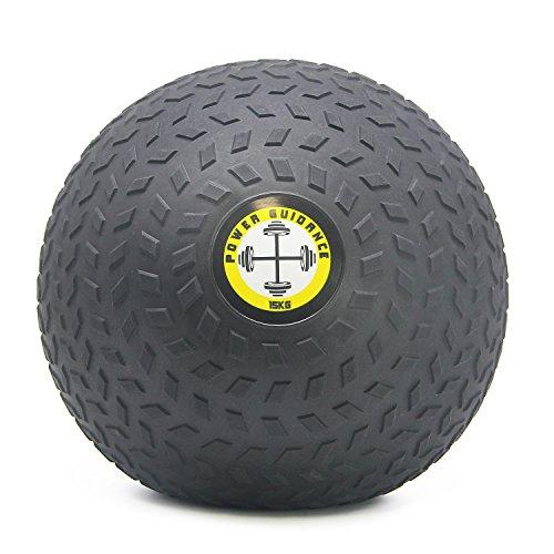 POWER GUIDANCE - Slam Ball Wall Ball Médecine Ball avec Surface texturée pour Une Prise en Main Facile, et lestée en Caoutchouc pour Cross-Training,Exercices Fitness, 15kg