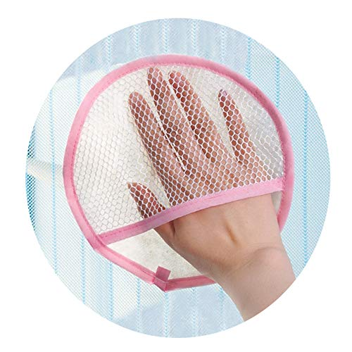 2 stuks scherm venster gordijn reinigingsdoek niet plukt absorberende doek Huishoudelijke gaas stofzuigen handschoenen verdikking schoonmaak handdoek Anti Bacteriële microvezel doeken voor verbazingwekkende uitstrijkje gratis vegen roze