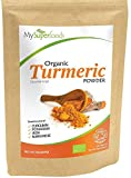 Polvo Orgánico de Cúrcuma (500g), MySuperFoods, Alta concentración de Vitamina C, Calcio, Magnesio, Potasio, Perfecto para Arroz y Curry, Certificado como producto orgánico por el Soil Association