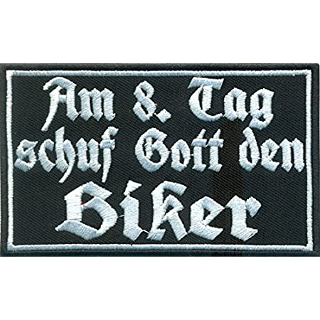 Aufnäher Aufbügler Motorrad Biker Fass Mein Bike An Und Du Siehst Gott Auto