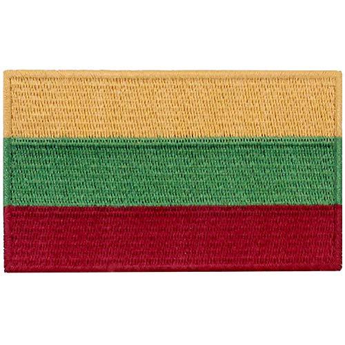 Litauen Flagge National Bestickter Aufnäher zum Aufbügeln/Annähen