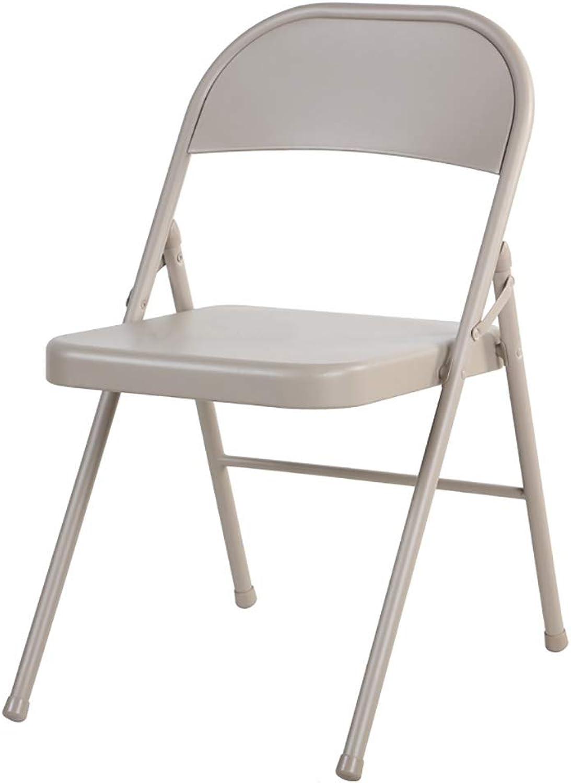 Folding Chair Home Leisure Chair Portable Meeting Training Computer Chair Backrest Chair 47  49  76cm.