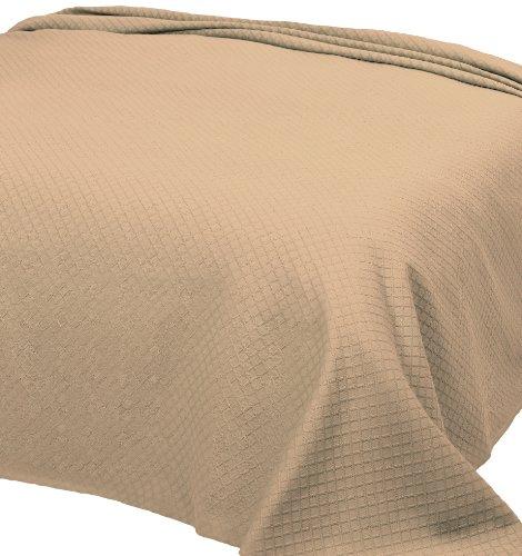 Home Basic 253 - Colcha de piqué para Cama Individual, 180 x 260 cm, Color Beige