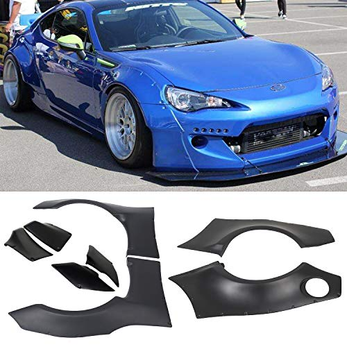 ECOTRIC Fender Flares for 2013-2016 Scion FRS & 2013-2017 BRZ GR Style Vehicle ABS Cover
