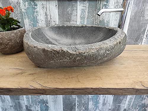 Fregadero de piedra con borde cincelado XL 24 Medida 60 x 46 cm Fotos reales del lavabo de baño fregadero fregadero baño baño de apoyo