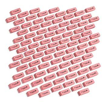 Blue Summit Supplies Pink Erasers Bulk Classroom Erasers for Kids Pink Pink Bulk Erasers Pencil Erasers for School Bulk Pink School Erasers 100 pack