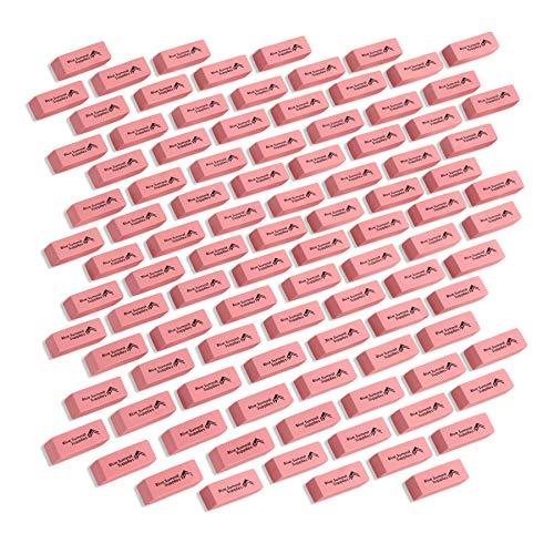 Blue Summit Supplies Pink Erasers Bulk, Classroom Erasers for Kids Pink, Pink Bulk Erasers, Pencil Erasers for School, Bulk Pink School Erasers, 100 pack
