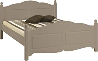 ACTUAL DIFFUSION Windsor Lit Taupe 2 Places 140 x 190 Charme, pin, 198x149x100 cm