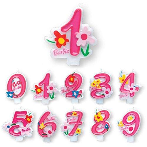 Procos 7482–Vela numerale Barbie Pink Número 8, rosa