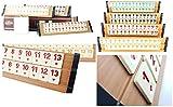 KD Premium Ausführung (hell) Rummy Set Okey - hochwertige Verarbeitung (Finish) & Materialien (Holz & Melaminsteine) - Spielspaß ohne Ende