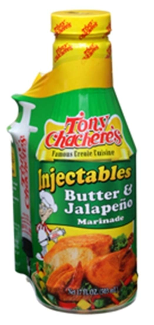 Tony Chachere's Butter & Jalapeno Injectable Marinade (with Injector) - 481g (17 oz)