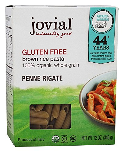 Jovial Organic Brown Rice Penne Rigate Pasta 12 Ounce  12 per case