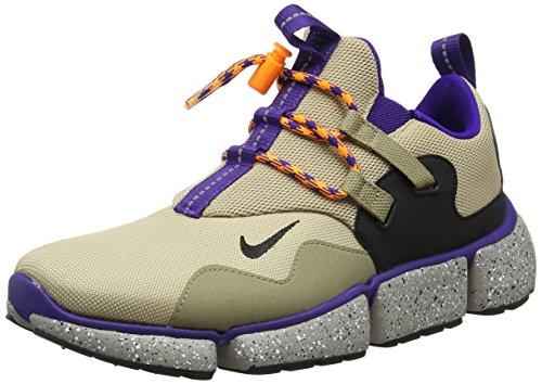Nike Pocketknife Dm, Men's Gymnastics Shoes, Beige (Linenblackkhakicourt Purple), 6.5 UK (40.5 EU)