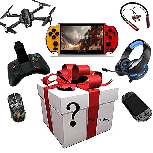 WXCCK Mystery Artículo-Agradables Regalos! Hay La Oportunidad De Abrir: Consola De Juegos Inteligentes,Drones,Auriculares Bluetooth - Cualquier Cosa Posible: Todos Los Artículos Son Nuevos (Al Azar)