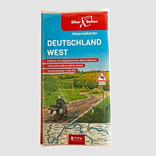 Motorradkarten Set Deutschland West: BikerBetten Tourenkarten 1:300 000