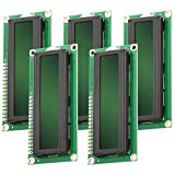AZDelivery 5 x HD44780 1602 Modulo Display LCD 2x16 Caratteri con Sfondo Verde e Caratteri Neri compatibile con Raspberry Pi incluso un E-Book!