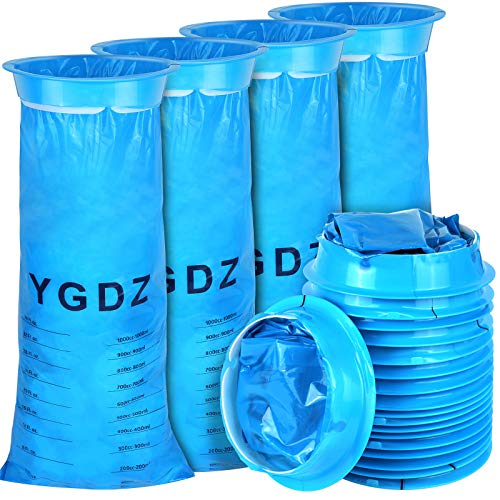 Vomit Bags Disposable, YGDZ 22 Pack Emesis Bags Barf Bags Puke Throw up Bags for Car Motion Travel, 1000ml