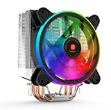 RAmpi Peripherals Disipador Ventilador CPU RGB para PC procesadores AMD Intel Gaming