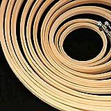 Lote de Bastidores Bambu de Punto de Cruz redondos y Lisos - Arte e Manualidades 10 Piezas de diferentes tamaños - Aros de Bordar y Costura...