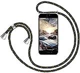 GoodcAcy Funda con Cuerda para Samsung Galaxy J4 Core Pantalla en Cristal Templado-Carcasa Transparente de TPU-con Cordon para Llevar en el Cuello