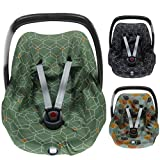 BriljantBaby DECO ** BabyFit 100% algodón Interlock Jersey ** Funda para Maxi-cosi Cabriofix, Pebble, Citi, Streety Fix etc. (Deco Green)