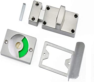 Indicator Privacy Deadbolt Door Lock, Keyless Zinc Alloy Deadlock Latch, Indicating Occupied(Engaged) / Vacant Sign for Bathr