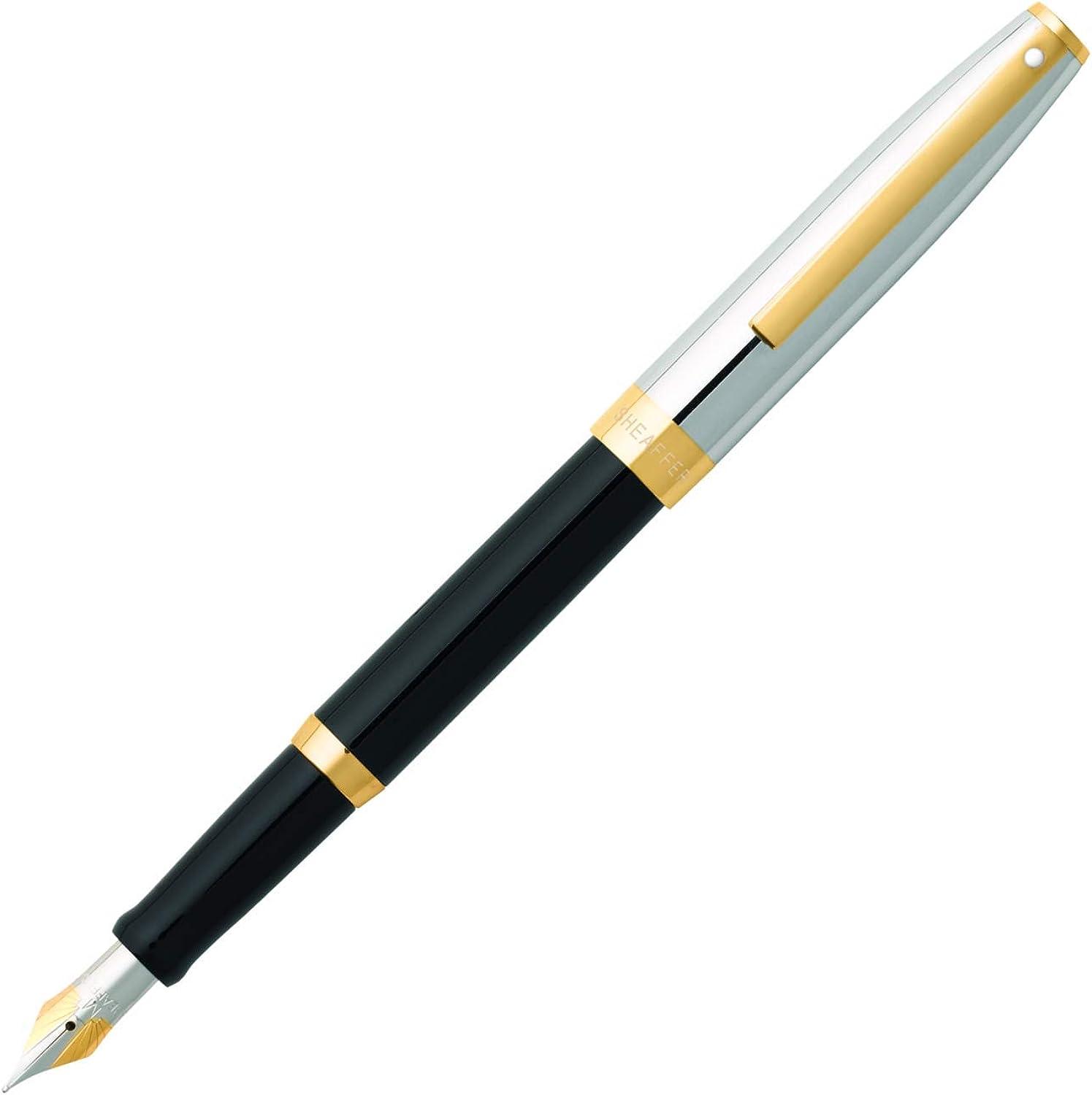Sheaffer 9475-2 Kugelschreiber Sagaris Korpus Chrom-Kappe mit Gold-Ton Trim, Trim, Trim, glänzend schwarz B00AGV8COE | Tadellos  398b20