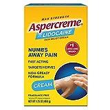 Aspercreme with Lidocaine Maximum Strength Pain Relief Cream, 4.7 oz.