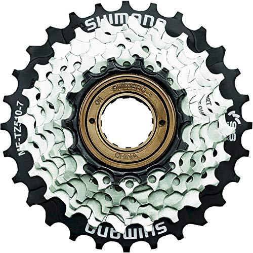 Shimano Unisex – Adulto MF-TZ510 7 velocidades, 14-16-18-20-22-24-28 Dientes, marrón/Negro