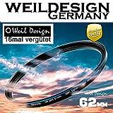 Filter UV slim 62mm XMC Digital Weil Design Germany - SYOOP - * Objektivschutz * blockt ultraviolettes Licht * mit Frontgewinde * 16 fach vergütet XMC * inkl. Filterbox ( UV 62 mm )