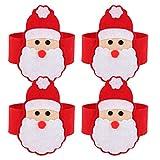4pcs Servilletero Santa Claus Decoración Cena mesa Servilleta para Navidad Fiesta