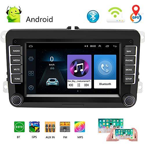 Radio de Coche 2 DIN 7'Android 8.1 Reproductor Multimedia de Coche Estéreo de Coche WiFi Navegación GPS Autoradio para Skoda V/W Passat B6 Polo Golf
