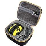 co2CREA Harte reiseschutzhülle Etui Tasche für Walkers Razor Slim Elektronische Gehörschutz-Muffs (Gelber Reißverschluss)