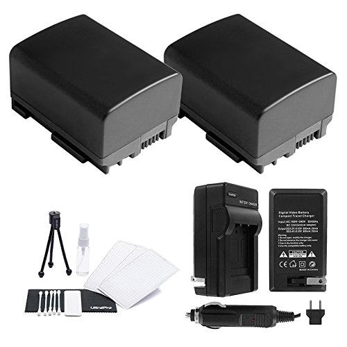 BP-808/809 Battery 2-Pack Bundle with Rapid Travel Charger and UltraPro Accessory Kit for Select Canon Cameras Including FS10, FS100, FS11, FS20, FS200, FS21, FS22, FS30, FS300, and FS31