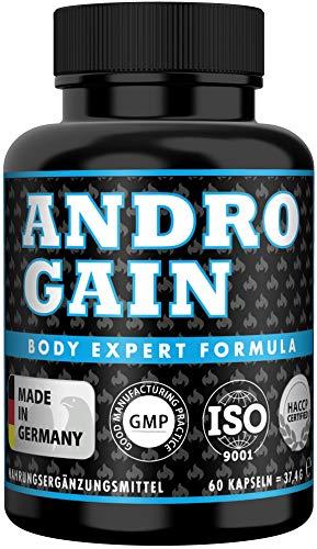 ANDRO GAIN Pre Workout Kapseln, Beliebt bei Muskelaufbau + Bodybuilding + Sport + Fitness, Tribulus Terrestris hochdosiert, 2 Monats Vorrat, 60 Kapseln