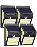 Solar Lights Outdoor, 4Packs 220LED Solar Motion Sensor Outdoor Security Light,3 Lighting Modes Solar Wireless Wall Lights, IP65 Waterproof Solar Powered for Garden Fence Patio Yard