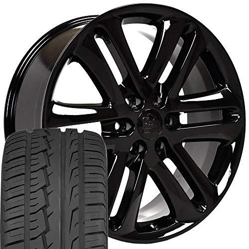 OE Wheels LLC 22 Inch Fits Ford Expedition F150 Lincoln Mark LT Navigator F150 Style FR76 Black 22x9...