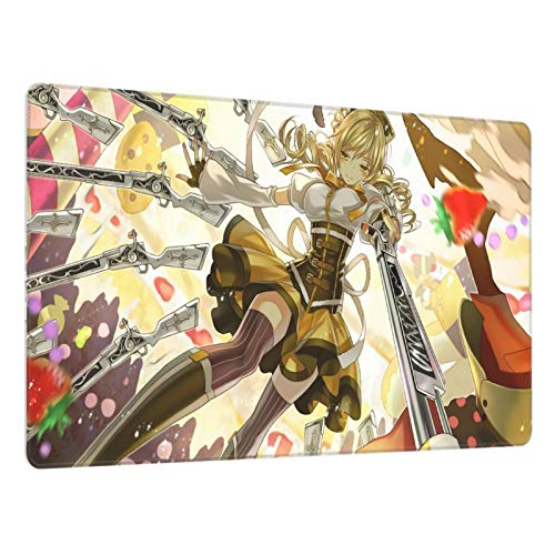 Anime Puella Magi Madoka Magica Tomoe Mami Larger Gaming Mouse Pad , Non-Slip Rubber Bottom Desk Pad 15.8x29.5 Inches, Suitable for Games, Offices, Homes