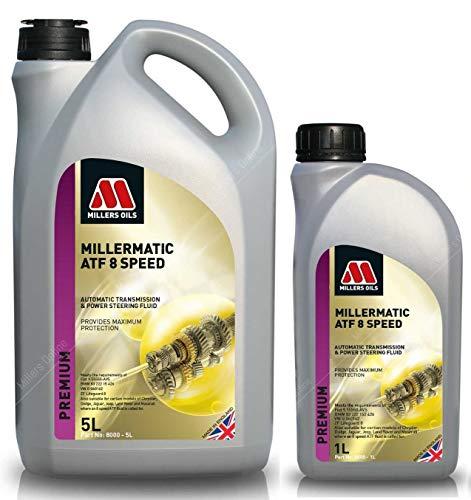 Millers Oils Liquide de transmission automatique Millermatic ATF 8 vitesses, 6 litres