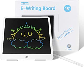 LCD Writing Tablet, ABEDOE 15 Inch Electronic Kids Drawing Board, Colorful Light Drawing Board, Gift for Kids and Adults a...