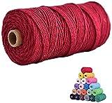 Cuerda de macramé 3mm*100M multicolor para manualidades,hilo natural de...