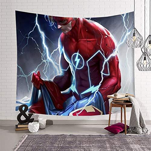 PearlRolan Tapices Art Tapestries The Flash Speed Feast 130 x 150 cm, decoración del hogar, decoración de dormitorio, sala de estar, cortina de picnic